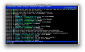 irssi - A commonly used unix IRC client
